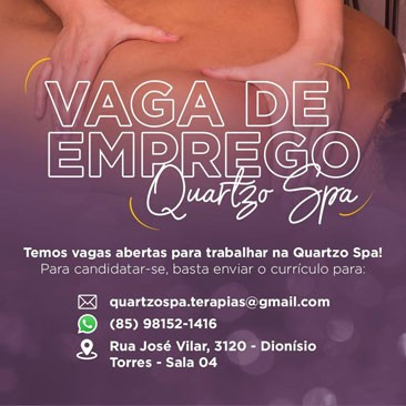 Vaga Massagista Quartzo Spa